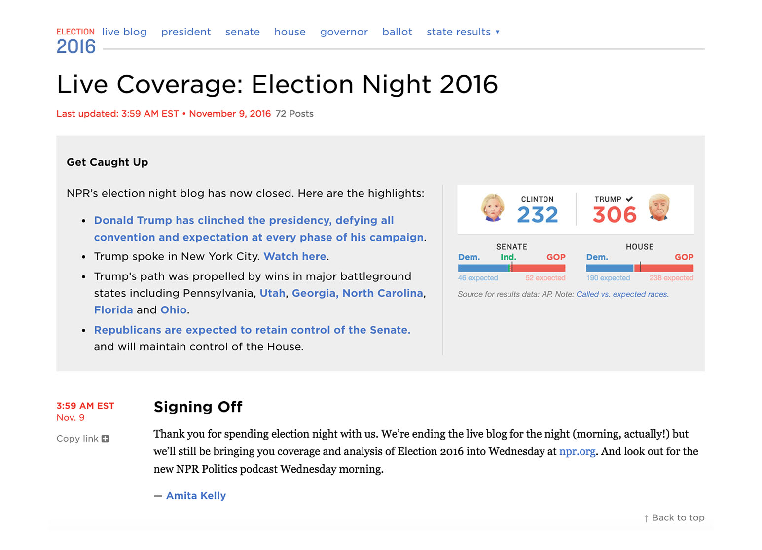 Npr Election Live Blog