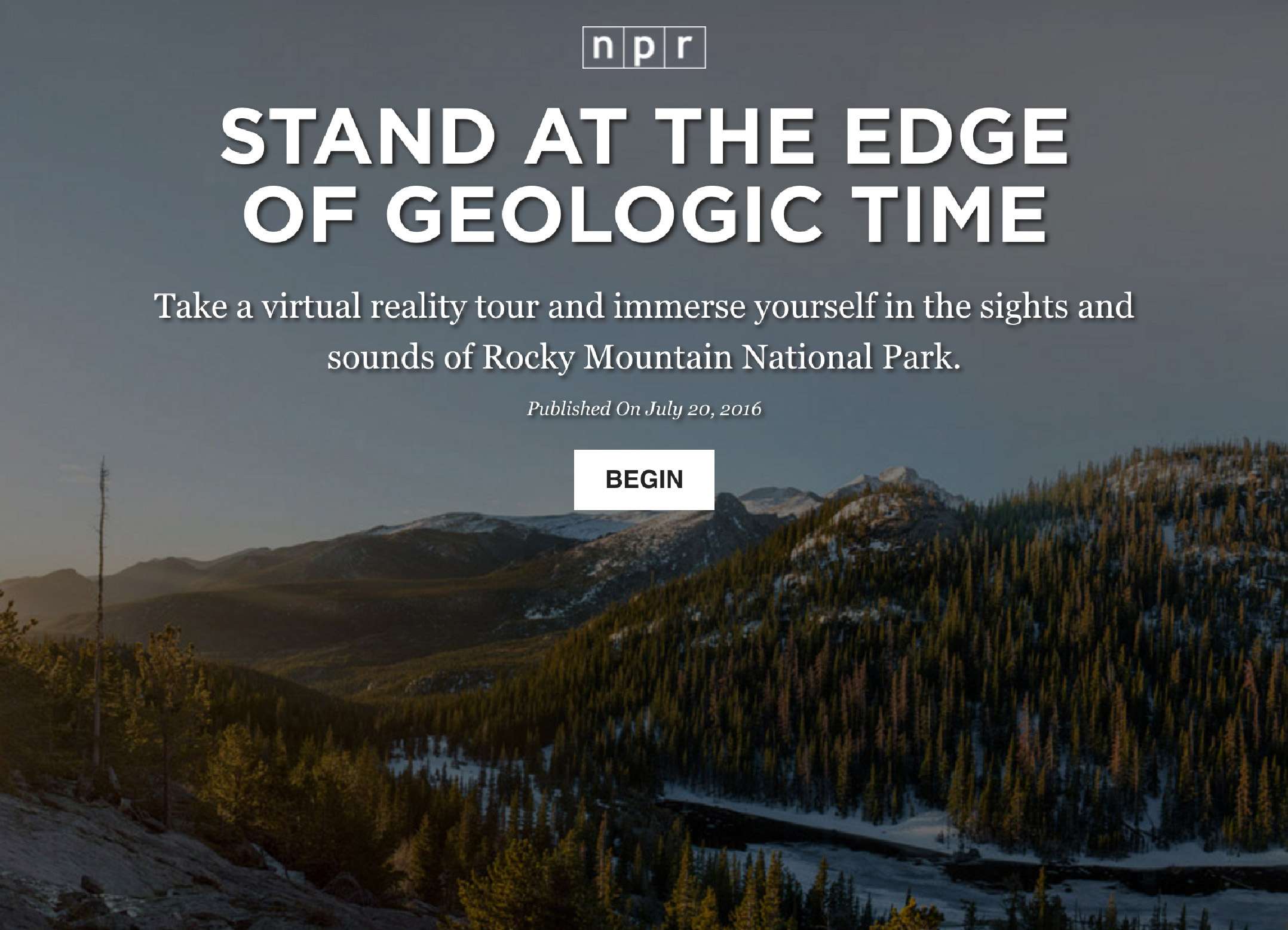 Stand At The Edge Of Geologic Time
